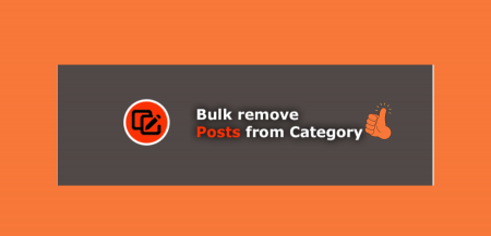 Bulk remove posts from category 1