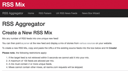 Mix and Match your RSS feeds 1