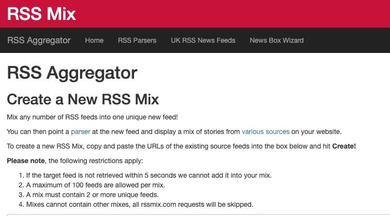 Mix and Match your RSS feeds 16