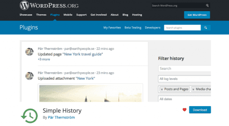 Simple History plugin banner
