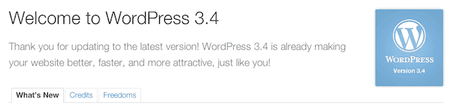 Just applied the WordPress Upgrade 3.4 and nothing broke. 115