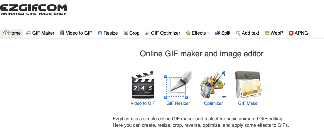 Online GIF tools for regular and animated GIF images 14