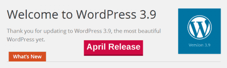 WordPress 3.9 is almost here 1